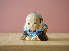 木彫り 福助人形
