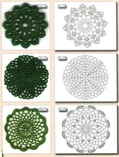 Here I have some diagrams crochet circles for you. Crochet Earrings Pattern, Crochet Coaster Pattern, Crochet Motif Patterns, Crochet Patterns For Beginners, Crochet Designs, Crochet Stitches, Crochet Flower Squares, Crochet Mandala, Crochet Flowers