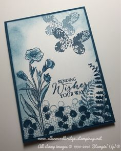 Ellen Woodbridge Independent Stampin' Up!® Demonstrator - Central Coast NSW Australia: 2016-2018 In Colour Sampler with Dapper Denim - Butterfly Basics, Playful Background and Awesomely Artistic using Stampin' Up! Products #stampinup for full details please visit my blog http://ellenthehappystamper.blogspot.com.au