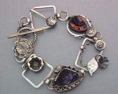 Fanciful Azurite Drusy Flower Bracelet