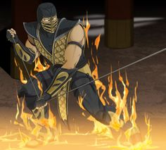 """Mortal Kombat 9 this is the best game ever. Mortal Kombat""""game, can't wait for the new one in april ugh yes. Mortal Kombat X Wallpapers, Scorpion Mortal Kombat, Mortal Kombat Games, Talia Al Ghul, Red Hood, Dragon Ball Gt, Video Game Art, Best Games, Samurai"""