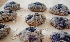 """Blueberry Oat """"Muffin Tops"""" (Vegan) / A Little Baker"""