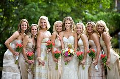 sarah + ray = sarayh: Bridesmaids: Different dresses