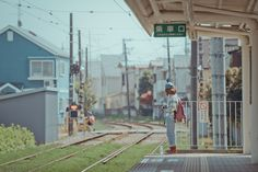 Waiting for the train in rural Japan.