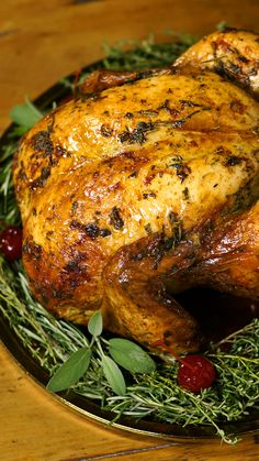 Chester With Herbal Olive Oil and Winter Squash Stuffing- Switch out your traditional holiday ham with this herb-infused olive oil chicken paired with a winter squash stuffing. Roast Chicken Recipes, Pork Tenderloin Recipes, Bbq Chicken, Duck Recipes, Turkey Recipes, Cooking Recipes, Healthy Recipes, Roasted Turkey, Roasted Chicken