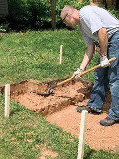 Excavate recesses