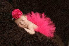 Newborn Tutu Set, Baby Tutu Set, Tutu, Tutu Set, Newborn tutu, Hot Pink, hot Pink Tutu, Newborn Photo Prop