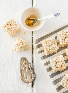 Salted Honey Rice Krispies Treats