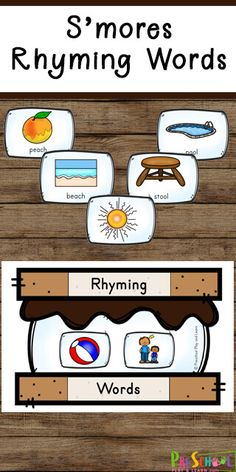 FREE Smores Rhyming Words - Have fun improving reading readiness with this fun smores themed rhyming words activity! This is a fun summer themed or camping themed activity for preschool, pre k, kindergarten, and first grade students. Preschool Camping Activities, Preschool Summer Camp, Educational Activities For Preschoolers, Pre Reading Activities, Summer Camp Activities, Summer School Themes, Kindergarten Themes, Art Design, Language Arts