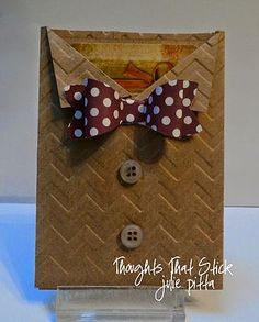 Bow Tie Gift Card | Thoughts That Stick . | Bloglovin'