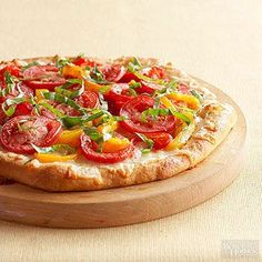 Cheesy Red Pepper Pizza From Better Homes and Gardens, ideas and improvement projects for your home and garden plus recipes and entertaining ideas.