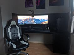 Find best Home Decoration Ideas for Your House - DIY - Room - Makeover Computer Desk Setup, Gaming Setup, Gaming Chair, Custom Pc, Game Room, Home Office, Furniture Design, Minimalist, Computers