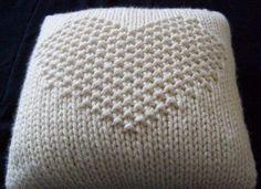 seed stitch heart pillow