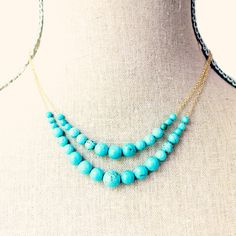 Turquoise Statement Necklace by NestPrettyThingsShop on Etsy