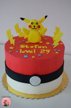 Pokemon cake with Pikachu