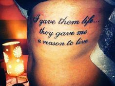 Tats Moms get to express love for their kids