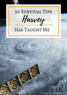 50 Survival Tips Harvey Has Taught Me via The Survival Mom -- Hurricane Harvey brought devastation and record flooding to the state of Texas and my hometown. These Harvey survival tips helped see us through. Survival Supplies, Survival Food, Outdoor Survival, Survival Prepping, Survival Skills, Survival Hacks, Survival Equipment, Survival Watch, Survival Gadgets