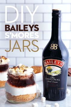 These decadent s'mores jars are packed with layers of irresistible flavor. First, pile up the usual s'mores ingredients—graham crackers, toasted marshmallows, and melted chocolate. Then pour 1.5 0z Baileys over the jar and get ready to dip your spoon in to savor all the delicious flavor. This dessert makes for the perfect movie night snack, or a tasty reminder of summer on cool autumn nights.