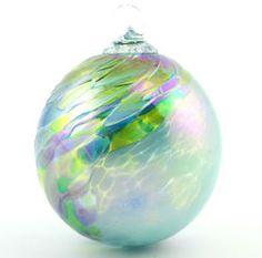 Green Chip Ornament  GLASS EYE STUDIO  $26.00   Handblown glass ornament. Made in the USA. 3 1/2 inches