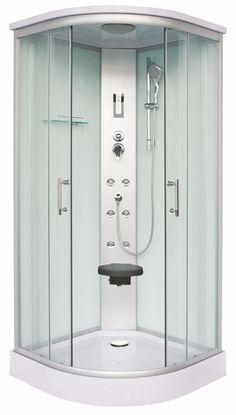 Komplettduschkabine SCALA mit Schnellmontage - 90 x 90 x 215 Aluminium, Lockers, Locker Storage, Modern, Cabinet, Box, Bathroom, Furniture, Home Decor