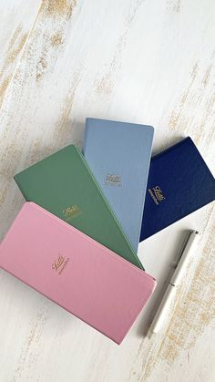 Keep your usernames and passwords safe and at hand with Letts of London Password Notebooks. Shown here, Icon Password Notebooks in Pink, Green, Blue and Navy. #Passwordbook #diary #notebook #pocketnotebook #username #passwords #remember #journal #gift #giftideas Secret Notes, Sewing Binding, Pocket Notebook, Icon Collection, Paper Cover, Book Journal, Fountain Pen, London
