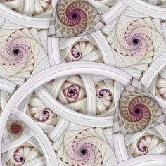 white in Apophysis digital fractal art - Zentangle Tangle Doodle, Doodles Zentangles, Zen Doodle, Zentangle Patterns, Doodle Art, Art Fractal, Fractal Geometry, Fractal Design, Sacred Geometry