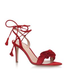 47d68e88375 Buy Gianvito Rossi Red Leather Solid Sandals online
