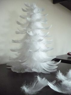 feather christmas tree,