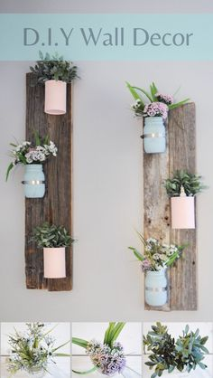 Diy pallet project wall flowers