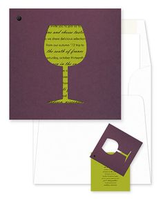 Claret wine themed invitation from Checkerboard's Social Butterfly collection. Customize yours with Paper Passionista.