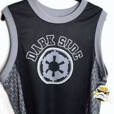 Star Wars Darth Vader Dark Side Lg Sleeveless Jersey Tank Top Vader #77 On Back #MadEngine #GraphicTee