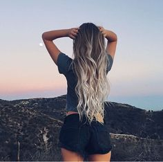 Summer girl Long hair Ombre Hair extensions More info here rubin - Hair Style Fow Woman Light Blonde Balayage, Balayage Hair, Blonde Hair, Blonde Ombre, Ombre Hair Extensions, Long Hair Extensions, Ombre Hair Color, Long Ombre Hair, Gray Ombre