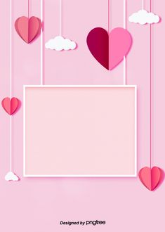 simple sweet pink love clouds framed to decorate the background of valentines day Valentines Day Border, Happy Valentines Day Card, Valentines Day Background, Love Background Images, Love Backgrounds, Heart Background, Rose Saint Valentin, Origami, Balloon Background