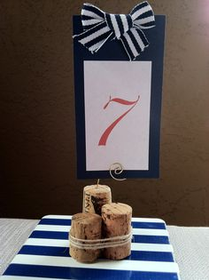 Nautical Wood Piling Cork Table Number or by AngelfishWeddings, $1.75