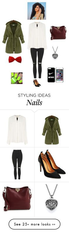 """K M N G"" by queen-kaitlyn on Polyvore featuring Topshop, Derek Lam, Valentino and NIKE"