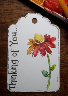 Watercolor Gift Tags Thinking of You Tags Gift Tags Gift