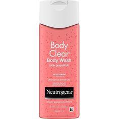 Neutrogena Body Clear Acne Treatment Body Wash with Salicylic Acid Acne Medicine to Prevent Breakouts, Pink Grapefruit Salicylic Acid Acne Body Wash for Back, Chest, and Shoulders, fl. Acne Body Wash, Best Body Wash, Face Wash, Acne Medicine, Salicylic Acid Acne, Body Cleanser, Pink Grapefruit, Skin Care Treatments, Neutrogena