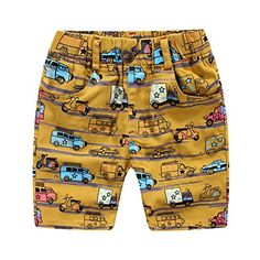 EFINNY Kids Boys Summer Car Patterns Elastic Wasit Loose Trouser Shorts * Check out this great product.Note:It is affiliate link to Amazon.