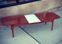 Vintage Expandable Coffee Table $350 - Chicago http://furnishly.com/catalog/product/view/id/4297/s/vintage-expandable-coffee-table/