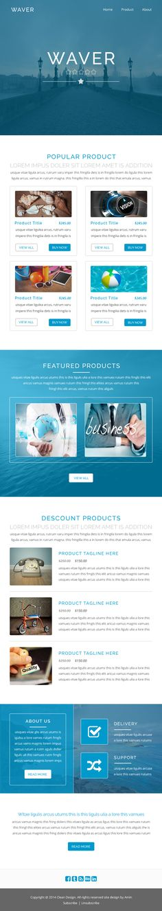 Free Newsletter Template PSD HTML Pinterest Template Email - Ecommerce email templates free download