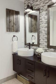 150 Amazing Small Farmhouse Bathroom Decor Ideas And Remodel – Home Design Bathroom Renos, Budget Bathroom, Master Bathroom, Bathroom Ideas, Master Baths, Bathroom Designs, Brown Bathroom, Bathroom Interior, Bathroom Modern