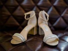 Silver jeweled strap block heel wedding sandal  {The Camera Wedding Photography & Cinematography}
