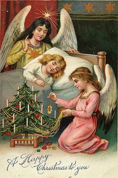 https://flic.kr/p/7o8Avh | Vintage Christmas Postcard | Free to use in your Art only, not for Sale on a Collage Sheet or a CD