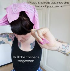 Land Girl Bandana Tutorial - or How To Cover Your Curlers - ReeRee's Blog - Rockalily
