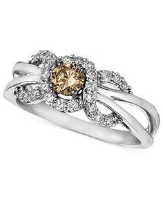 Chocolate diamond ring by le vian i love rings for Macy s jewelry clearance