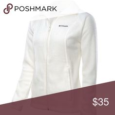 Jacket NWT. Stay warm with this Amazing white fleece jacket. Size M Columbia Jackets & Coats Utility Jackets