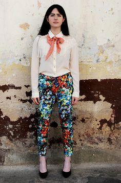 Velazca Oh La La, Velazca Dots Scarve, Velazca Floral Pants, Bcbg Stilettos