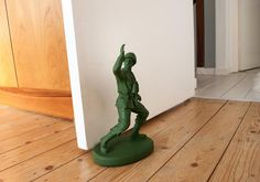 Green Army Man Doorstop. must have!!!