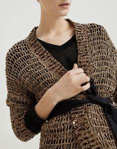 Tunisian Crochet, Knit Crochet, Crochet Needles, Summer Knitting, Crochet Fashion, Brunello Cucinelli, Crochet Clothes, Cardigans For Women, Pulls
