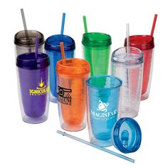 16 oz. Hot / Cold AS Tumbler is great if you can't decide between giving away a hot or cold beverage holder.  Comes with lid and straw so this versatile item is a keeper.